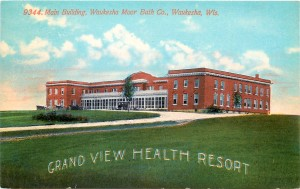 Early postcard of Moor Mud Baths, when it was known as Grand View Health Resort.